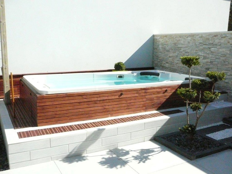 1000 images about backyard ideas on pinterest small for Half in ground pool ideas