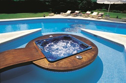 Hydropool 575 Floating in a Pool