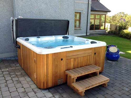 Serenity 6000 Hot Tub with wooden cabinet
