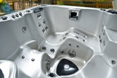 Safety Steps in a Hydropool Hot Tub