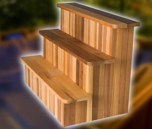 Three-Tier Cedar Step
